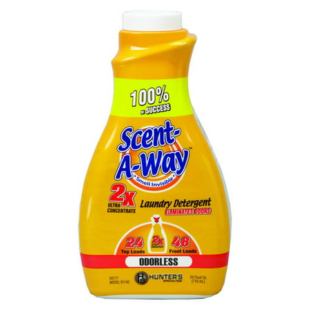 Scent-A-Way Odorless Laundry Detergent, 24oz