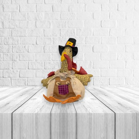 Plush Burlap Turkey Thanksgiving Shelf Sitter Fall Autumn 11.50