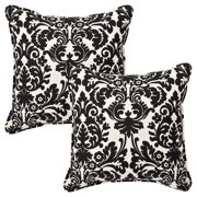 Pillow Perfect 18 in. Square Outdoor Toss Pillow -Set of 2