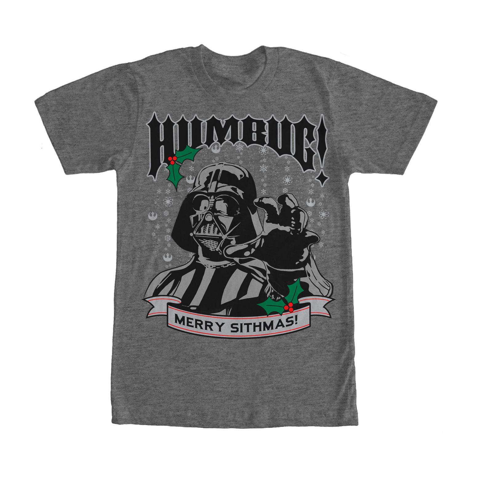 Star Wars Men's Christmas Darth Vader Humbug T-Shirt