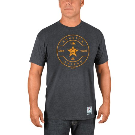 Houston Astros Majestic Authentic Collection Clubhouse Team Issue T-Shirt - Heathered Charcoal ()