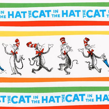 Robert Kaufman Dr Seuss The Cat in the Hat 4 Celebration Character Stripe - Seuss Characters