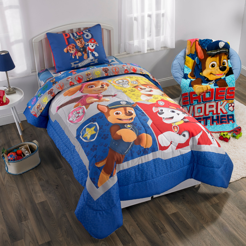 Paw Patrol Kids Bed In A Bag Reversible Bedding Set W