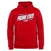 Fresno State Bulldogs Double Bar Pullover Hoodie - Red