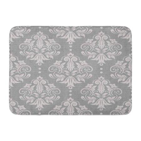 Modern Lace Damask (LADDKE Gray Pattern Damask Silver Floral Victorian Modern Lace Baby Doormat Floor Rug Bath Mat 23.6x15.7 inch )