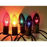 Brite Ideas 25 Bulb Multi-Color C7 Incandescent Transparent Light Set