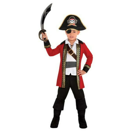 Pirate Captain Child Boys Small 4-6 Costume](Pirate Costume For Males)