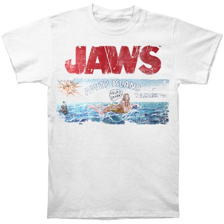 Jaws Mens  Jaws Island Slim Fit T Shirt White
