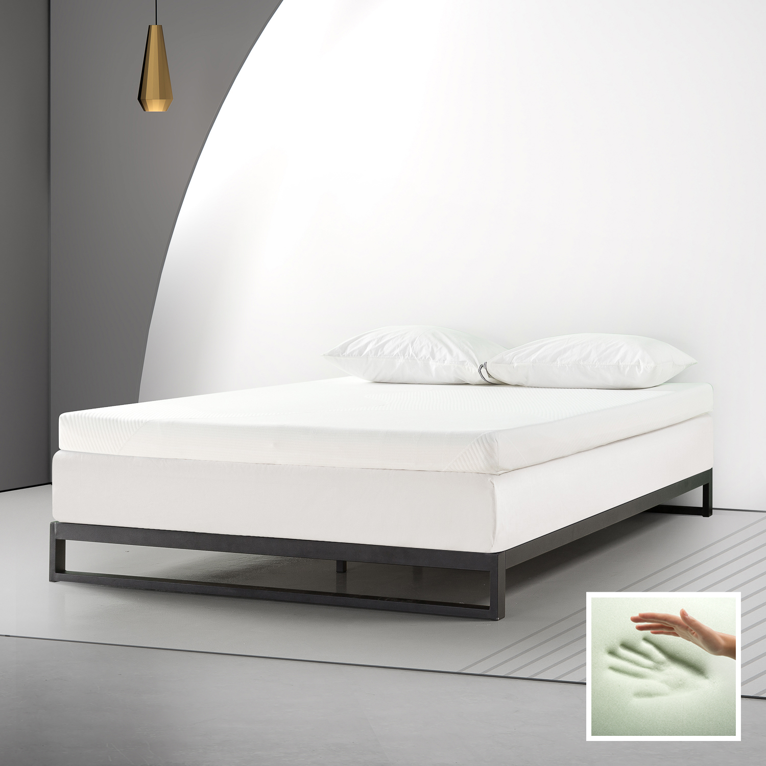 Spa Sensations By Zinus 4 Memory Foam Mattress Topper With Theratouch Twin Walmart Com Walmart Com