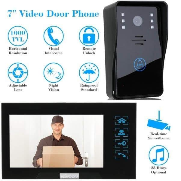 Smart Wireless WiFi Video Door Phone Doorbell Intercom Monitor Security Camera