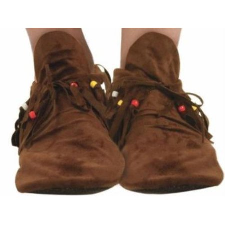 Hippie Moccasins Adult Halloween Costume Accessory - Halloween Hippie Costume
