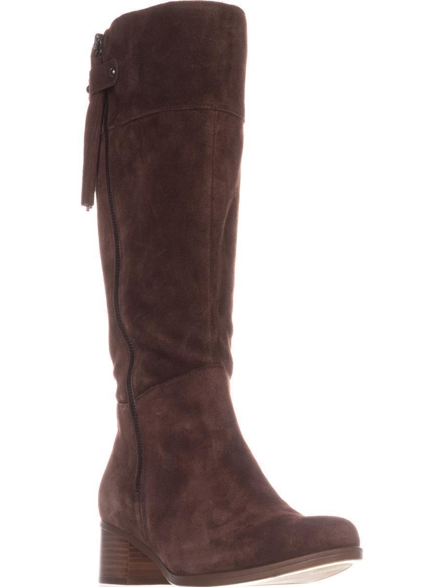 Womens Naturalizer Demi Wide Calf Riding Boots, Chocolate by Naturalizer