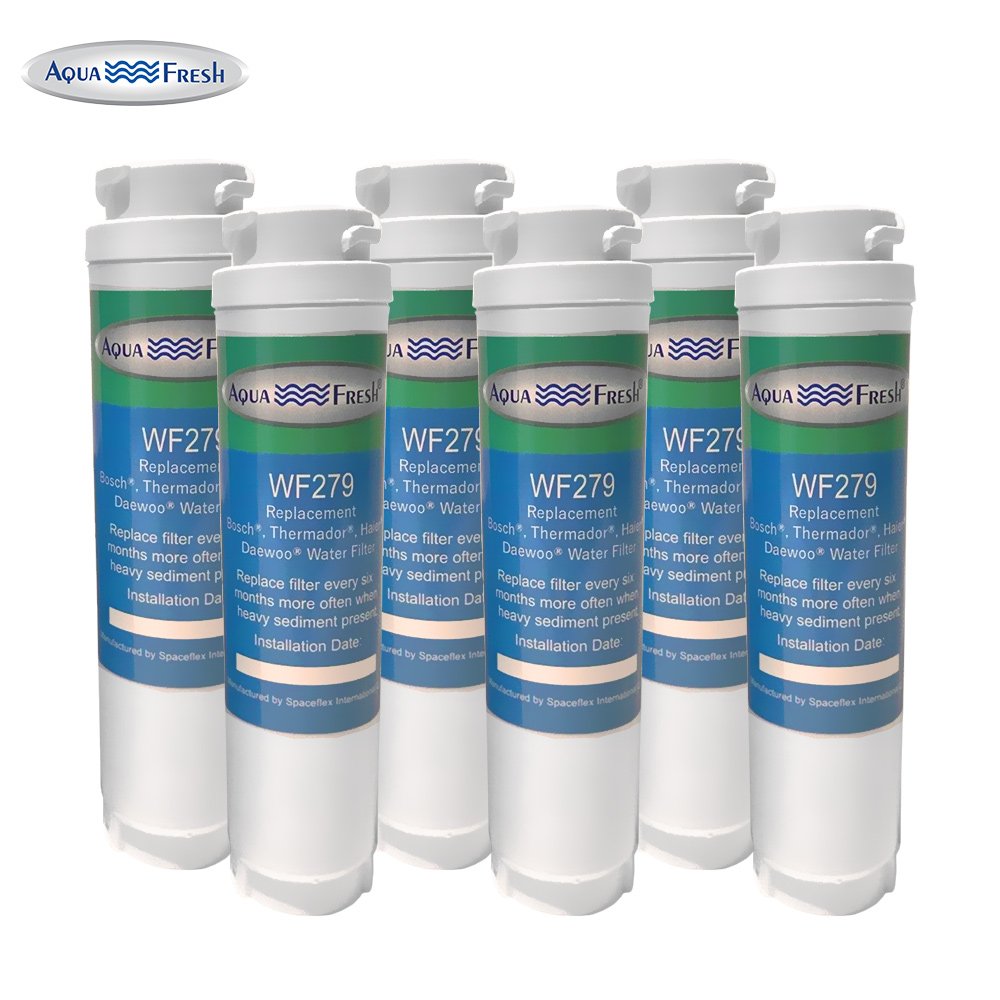 Replacement Water Filter For Bosch 9000 225 170 Refrigerator Water Filter by Aqua Fresh (6 Pack)