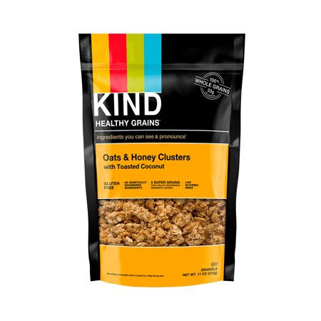 KIND Gluten Free Breakfast Granola, Oats, Honey & Toasted Coconut,11