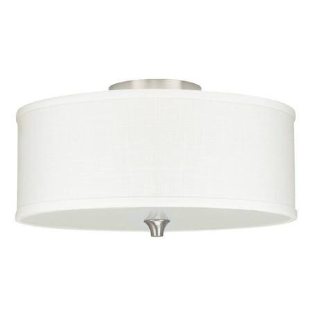 Revel Newport 14 2 Light Semi Flush Mount Ceiling White Linen