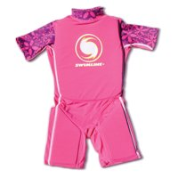 Swimline Pink Lycra Girl's Floating Swim Trainer Wet Suit Life Vest Large 9894G