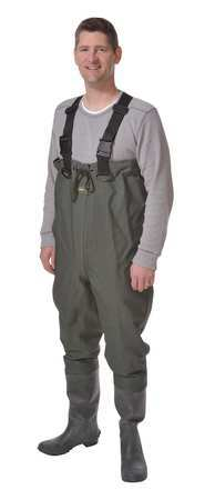 PROLINE 72101BOXED 7 Chest Wader, Size 7, Dark Green, PR by Proline