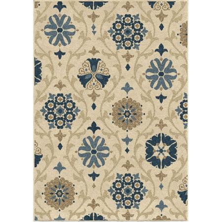 Bermuda Collection - Carolina Weavers  Bermuda Collection Borrego Blue Area Rug (5'2 x 7'6) - 5'2