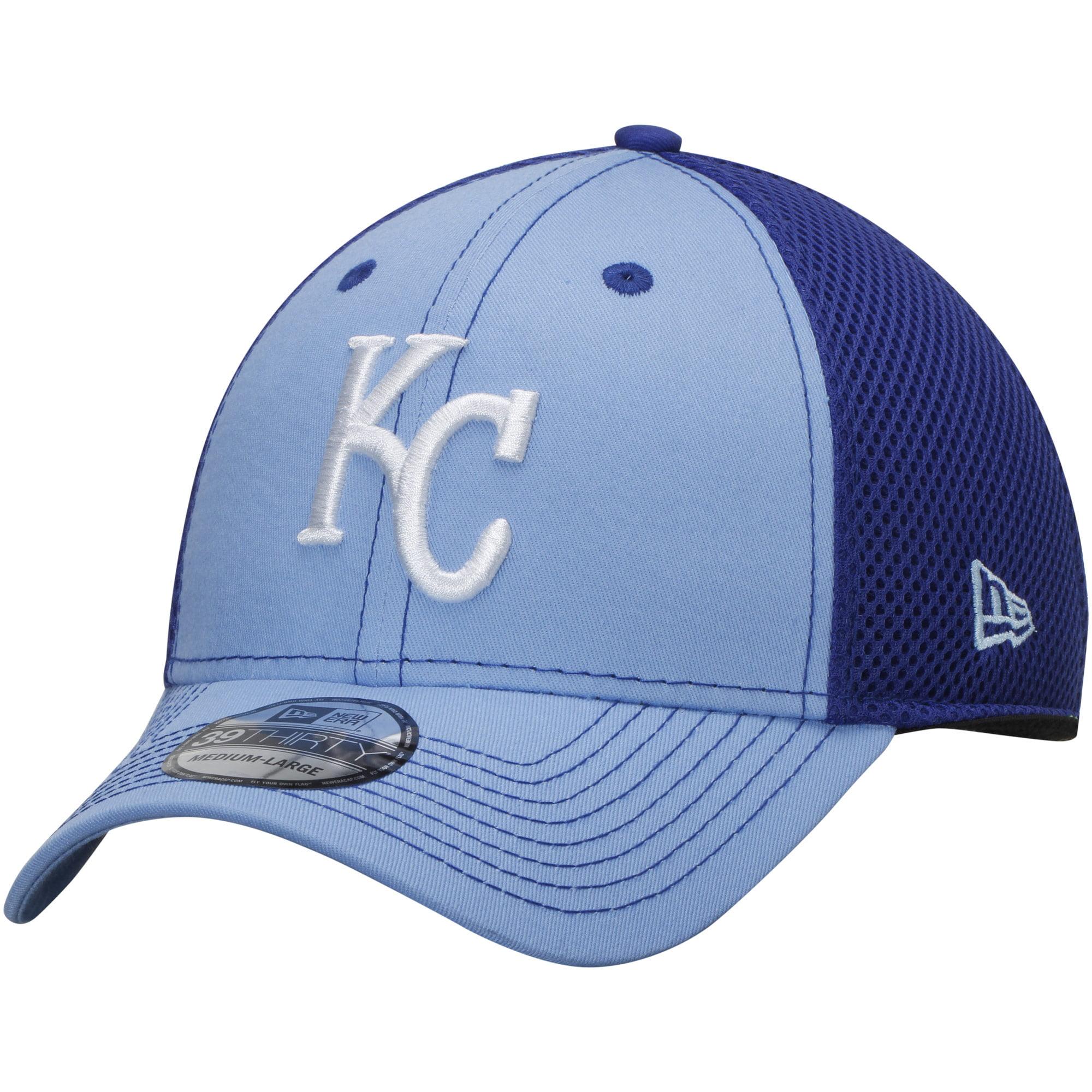 Kansas City Royals New Era Team Front Neo 39THIRTY Flex Hat - Royal/White