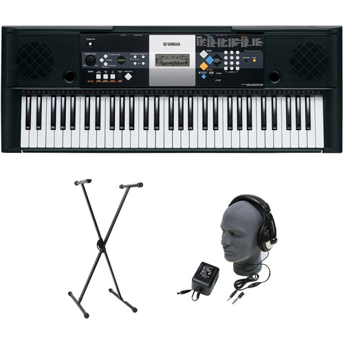 Yamaha PSR-E233 61-Key Premium Portable Keyboard Package with Headphones, Stand and Power Supply