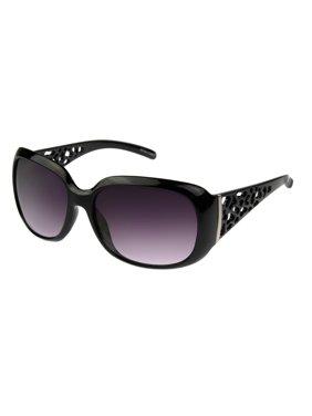 Foster Grant Women's Black Square Sunglasses G09
