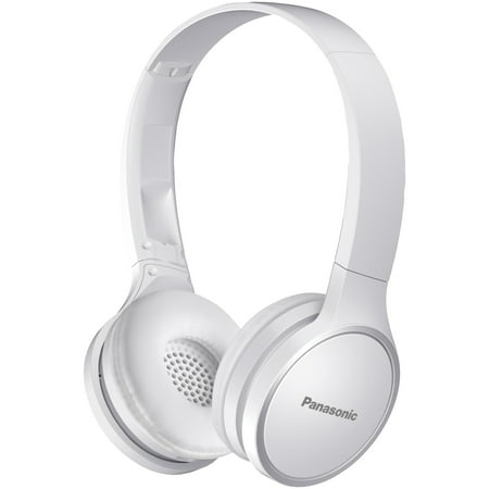 Panasonic RP-HF400B-W Bluetooth On-ear Headphones (Panasonic Headphones Stereo Speakers)