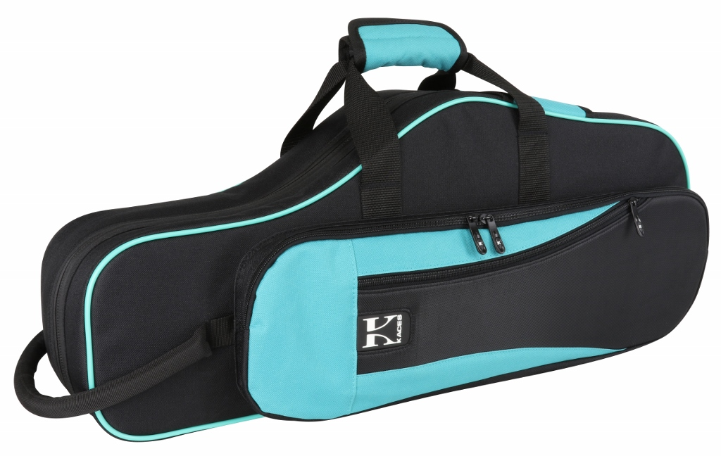 Kaces KBO-ASTL Lightweight Hardshell Alto Sax Case, Teal by Kaces