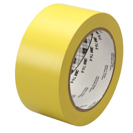 General Purpose Wear Resistant Floor Marking Tape Roll, 2 in. x 36 yard, Vinyl - Yellow