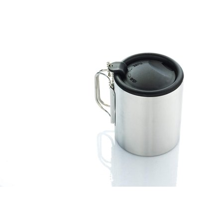 SE OD-SC300 Double Wall Stainless Steel Travel Mug with Splash Guard and Sliding Top Sip Lid, 10 fl. oz