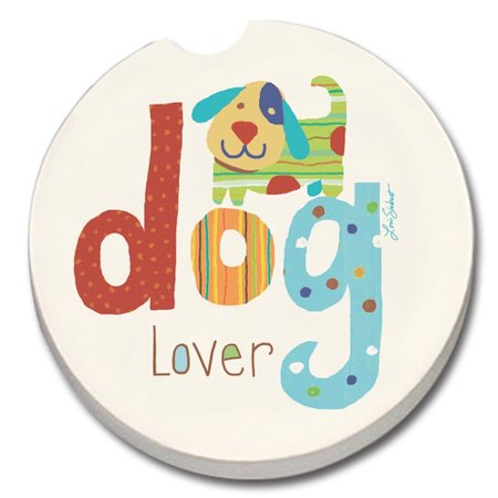 - CounterArt Absorbent Stone Dog Lover Car Coaster (Set of 2)