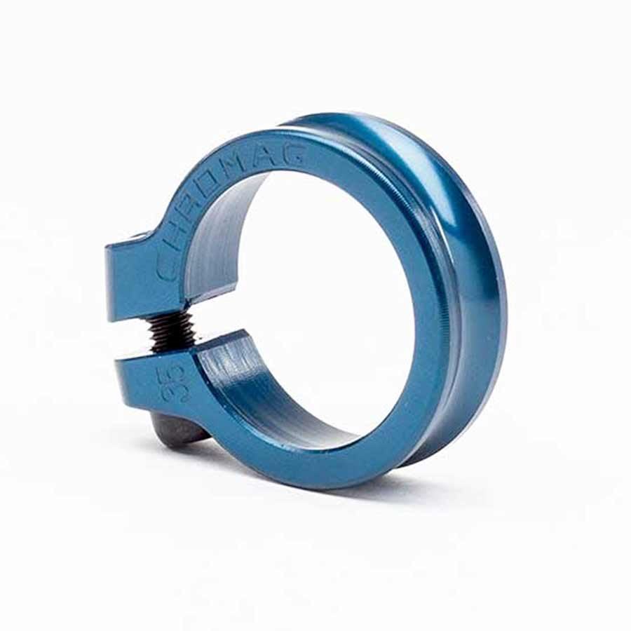 Chromag, Seatpost clamp with bolt, 35mm, Blue