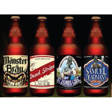 Slap Sticker Halloween Beer Labels 4 Pack Party - Label Charlotte Halloween