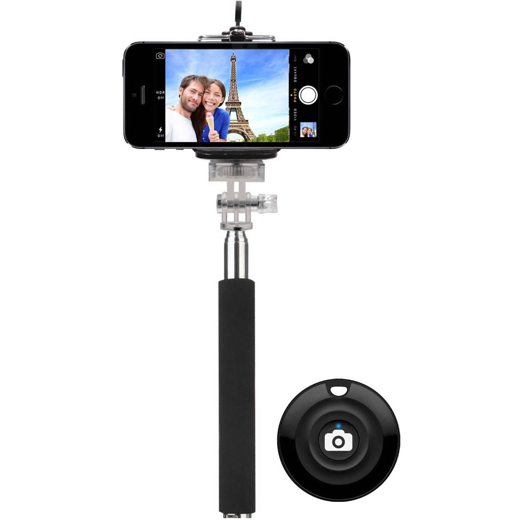 Emio Selfie Stick Bundle with Bluetooth Remote