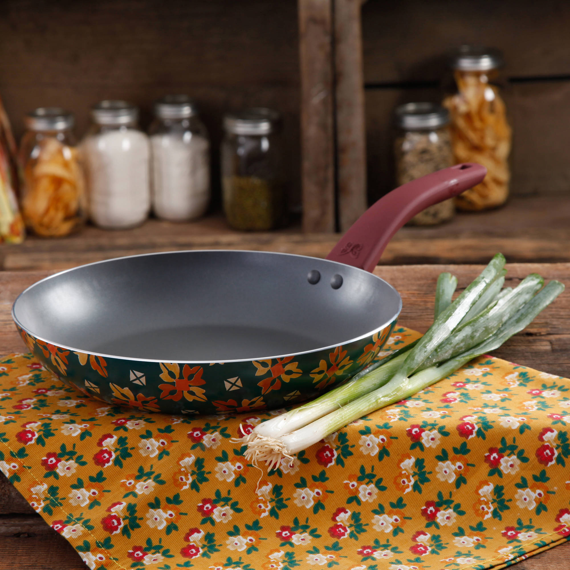 The Pioneer Woman 10  Non-Stick Aluminum Fry Pan, Multiple Colors