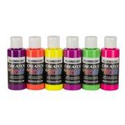 Createx Airbrush Color Set, Fluorescent Kit