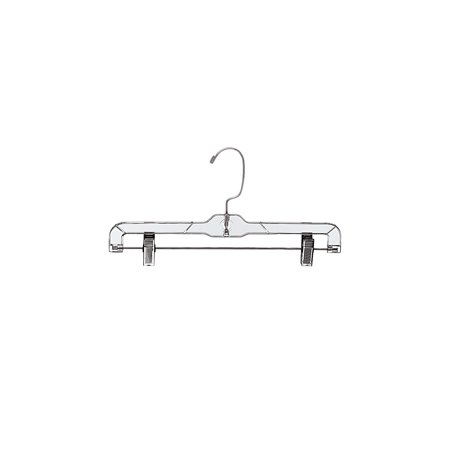 14 inch Clear Plastic Skirt and Pants Hangers - Pack of