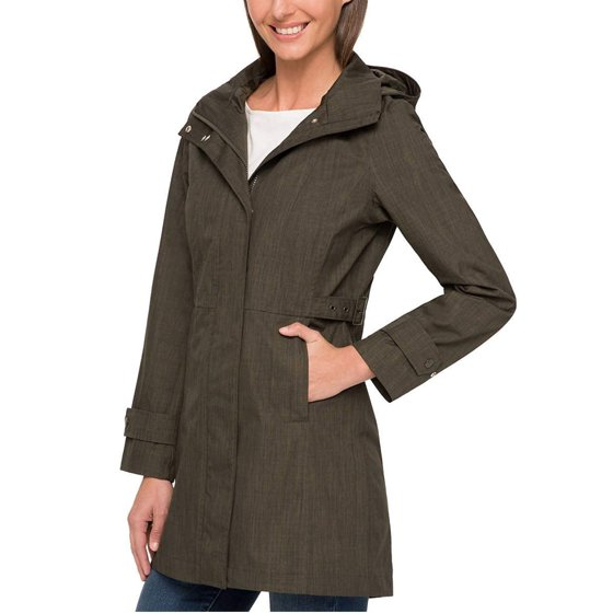 652d7ecdf Kirkland Signature Ladies' Trench Coat, Olive, Large