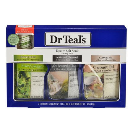 - Dr. Teal's Pure Epsom Salt Soak Variety Pack, 4 Pieces