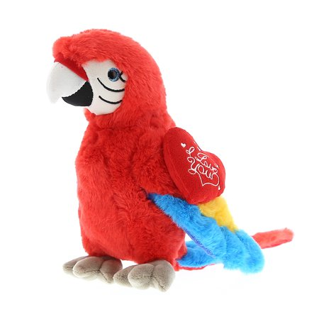 Super Soft Plush Dollibu Red Parrot I Love You Valentines