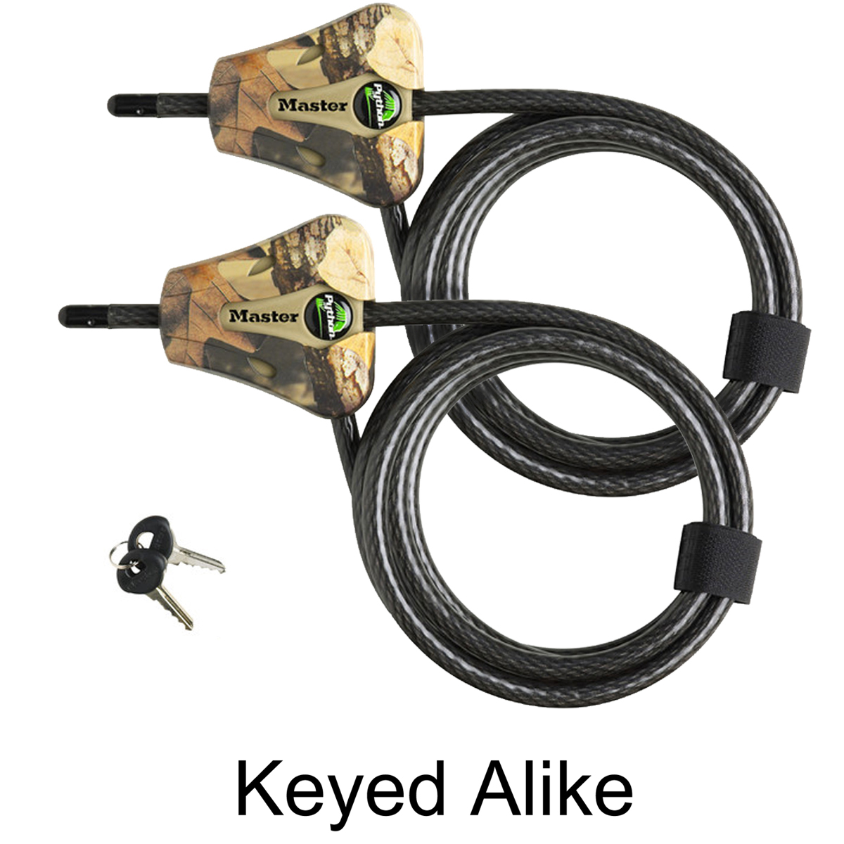 Master Lock - 8418KA-2 Camo 2-Pack Keyed Alike Python Camouflage Trail Camera Cable Locks