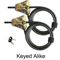 Master Lock - 8418KA2-66 Camo - (2) Keyed Alike Python Camouflage Trail Camera Cable Locks