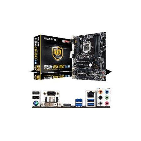 GA-B150M-D3H GIGABYTE GA-B150M-D3H R.1 White Box Intel LGA1151 Motherboard - Refurbished
