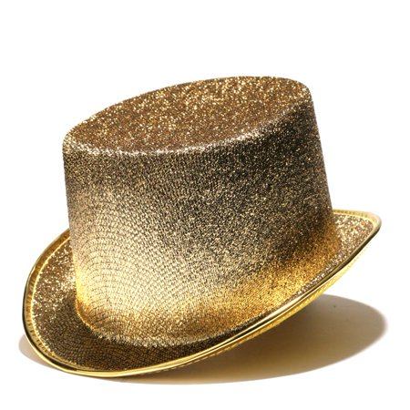 Gold Glitter Top Hat - Gold Top Hats