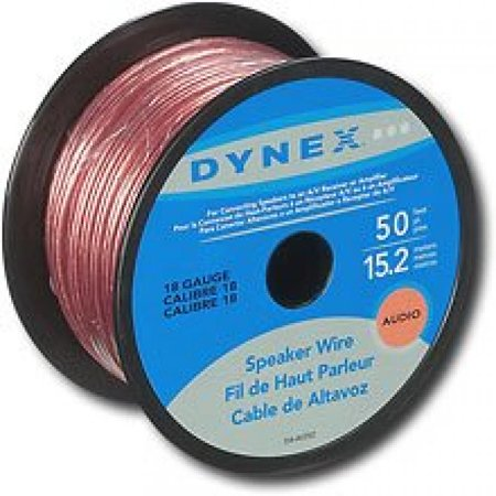 Dynex DX-AV252 - Bulk speaker cable - 18 AWG - 50 ft (Dynex Av Cable)