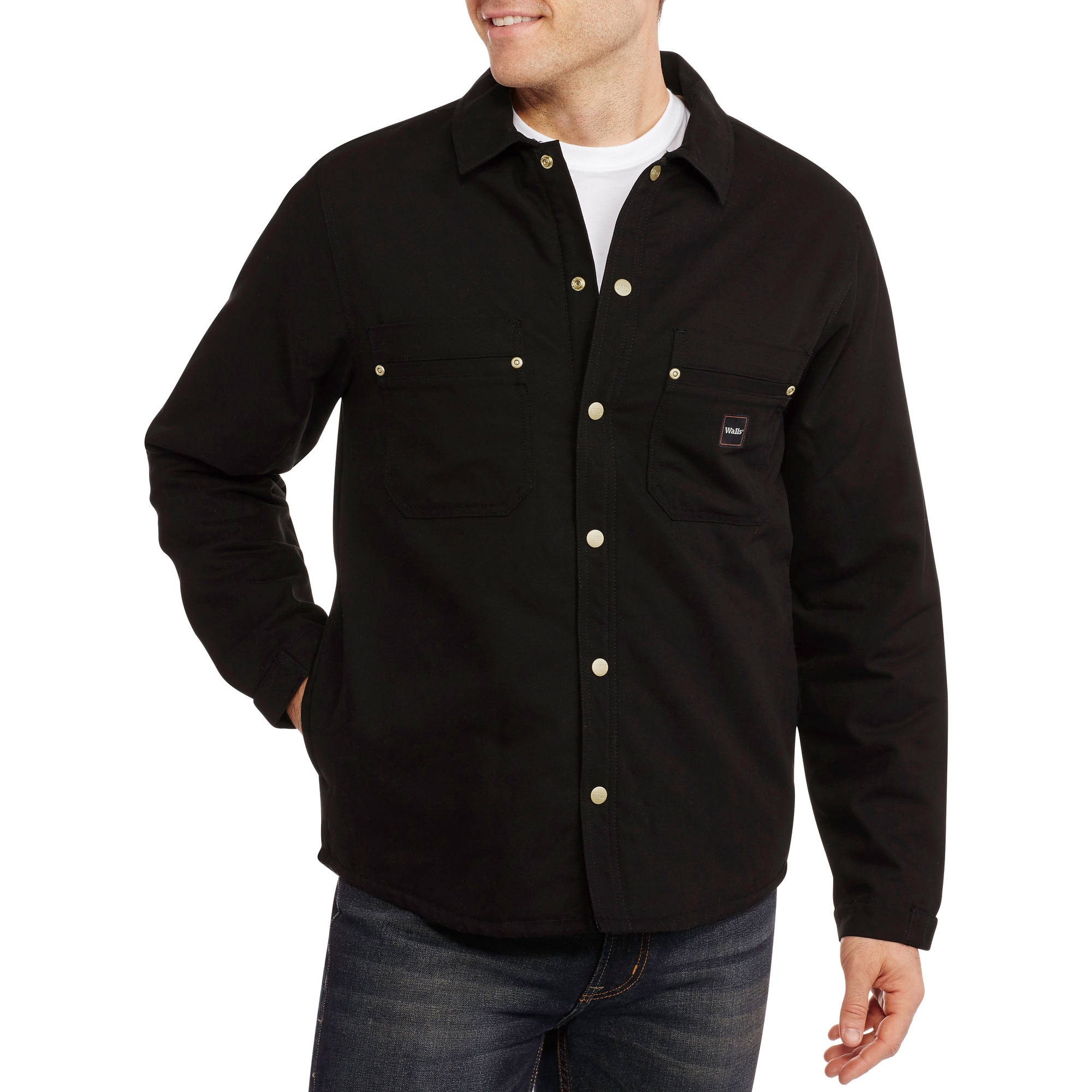 Walls Big Men's Sherpa Lined Shirt Jacket