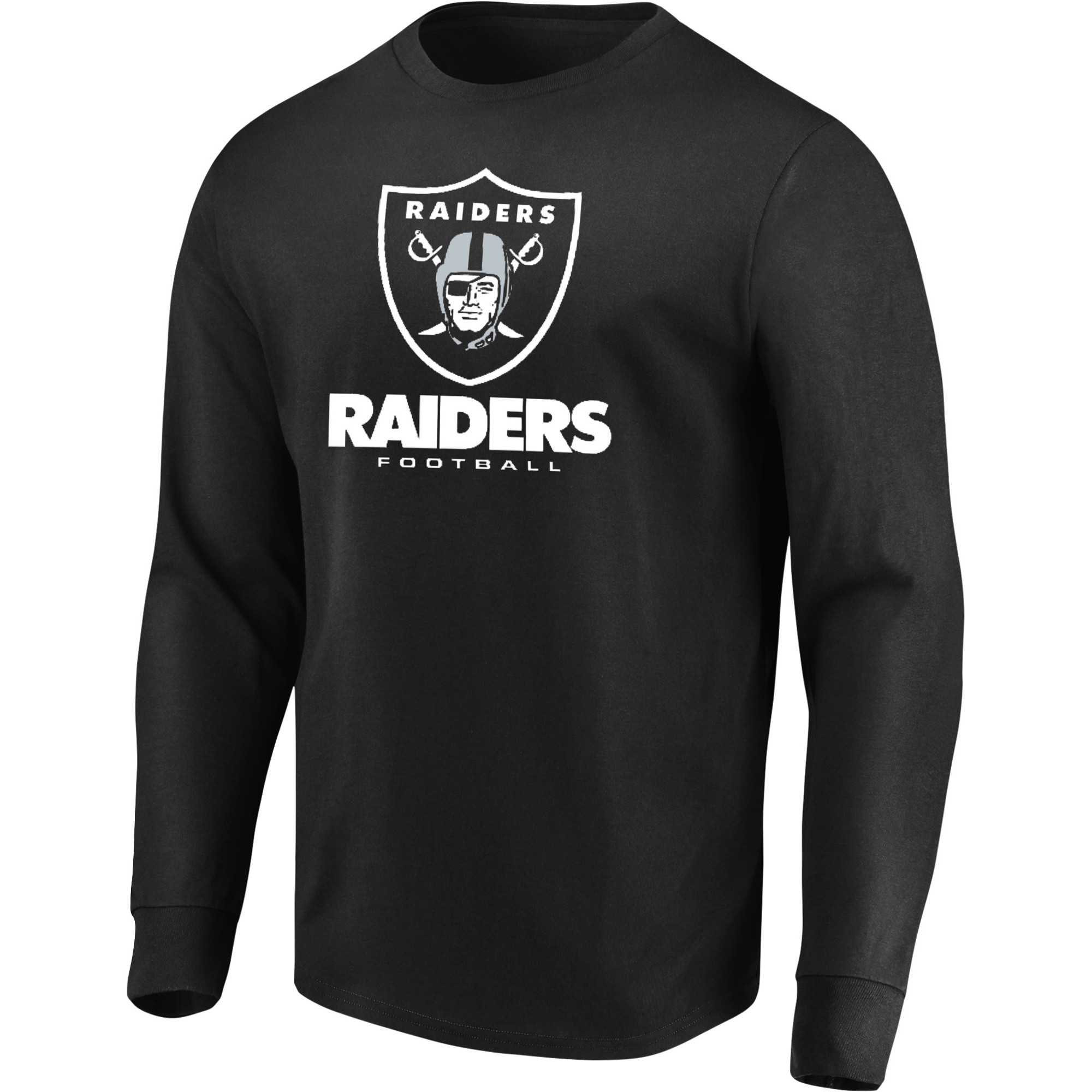 Men's Majestic Black Oakland Raiders Our Team Long Sleeve T-Shirt