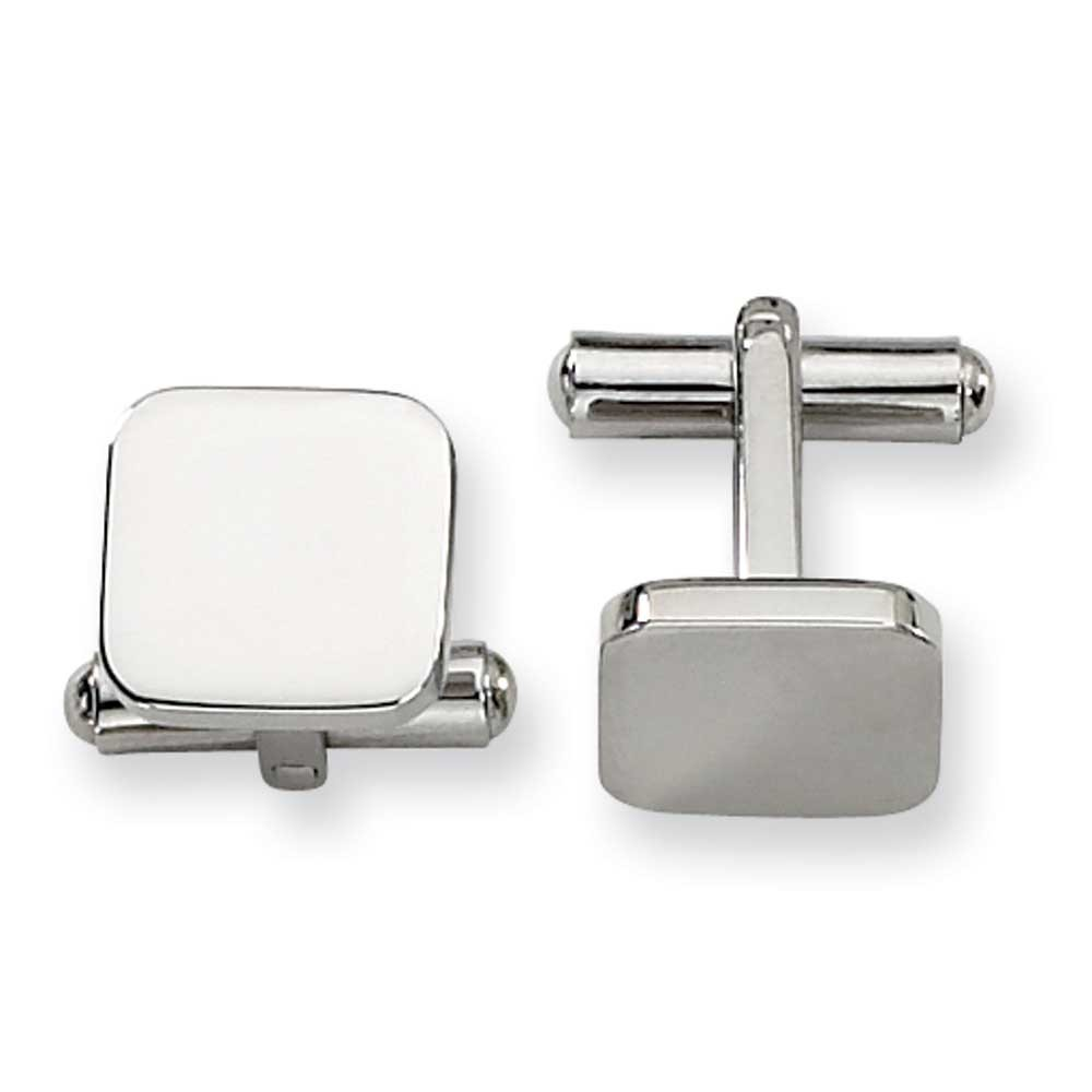 Primal Steel Stainless Steel Polished Cuff Links