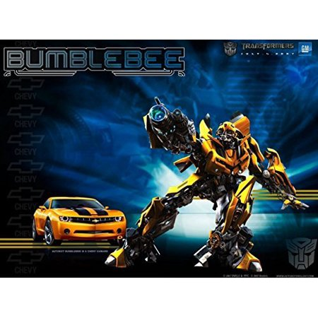 1/2 Sheet Transformer Bumblebee Camaro Bumble Bee Edible Photo Birthday Cake Topper Frosting Sheet Personalized Party for $<!---->