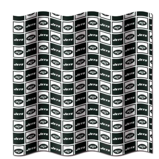 New York Jets NFL Fabric Shower Curtain (72x72)