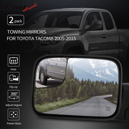 fits 05-15 toyota tacoma side view towing mirrors power heated left right 2pc